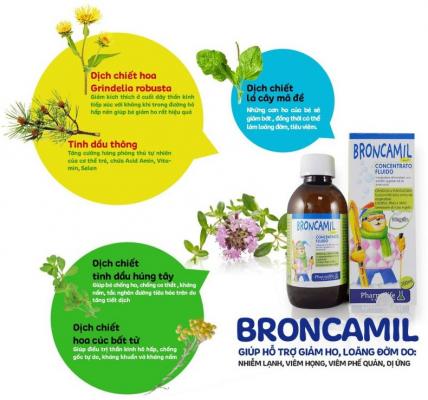 Siro Broncamil Bimbi được chiết xuất từ 100% thảo mộc tự nhiên